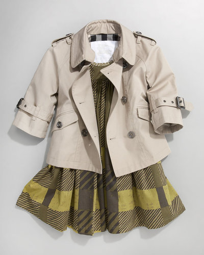 Burberry Double-Breasted Trench, Sizes 7-10