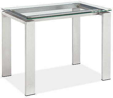 Rand End Table in Stainless Steel