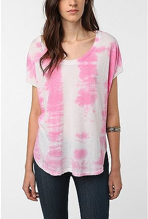 Mouchette Tie Dye Shirtail Tee