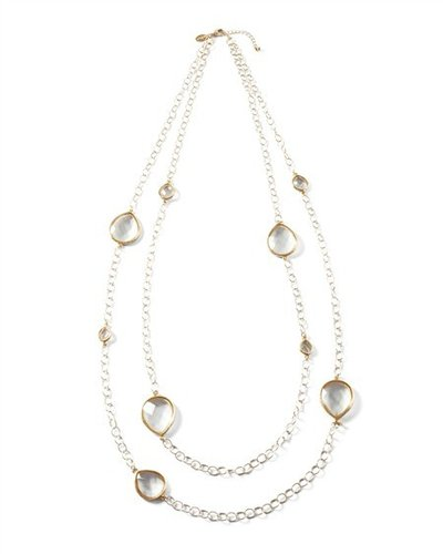 Long Crystal Teardrop Necklace