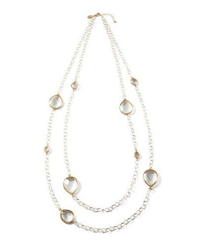Long Crystal Teardrop Necklace
