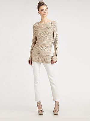 Alice + Olivia Patrick Pointelle Sweater