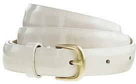 Patent leather skinny belt