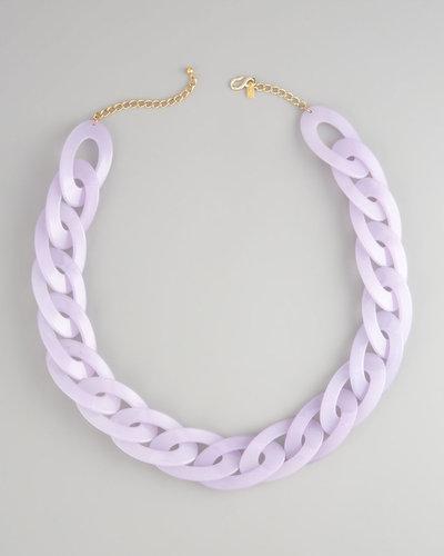Kenneth Jay Lane Resin-Link Necklace, Lavender