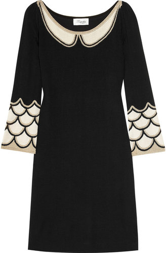 Temperley London Mini Kythira metallic intarsia silk-blend dress