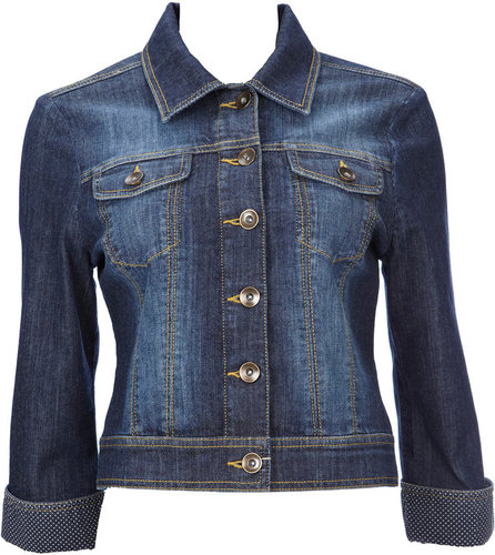 Blue Turn Up Denim Jacket