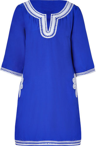Collette by Collette Dinnigan Azur Embroidered Short Caftan