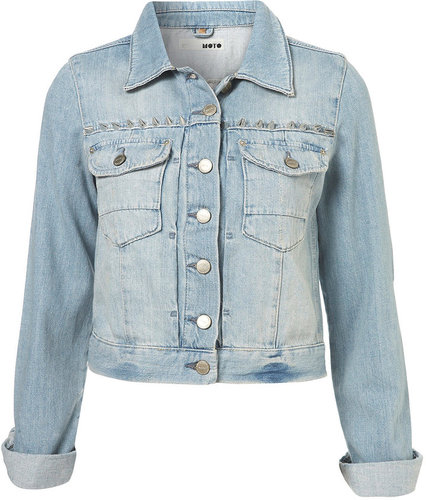 MOTO Studded Yoke Denim Jacket