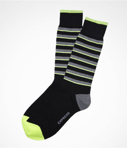 Neon Stripe Dress Socks