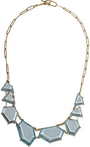 Rosanne Pugliese Natural Blue Topaz Geometric Collar