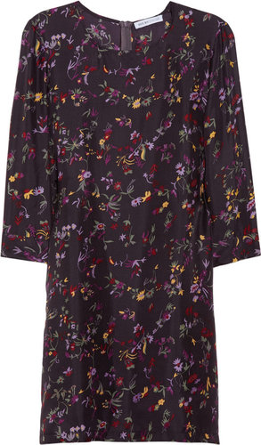 See by Chloé Floral-print silk-charmeuse dress