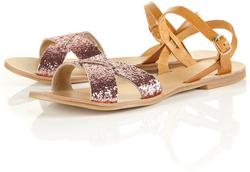 HINT Cross-over Glitter Sandal