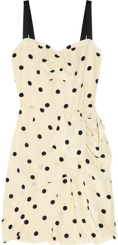 Marc by Marc Jacobs Hot Dot ruffled silk dress
