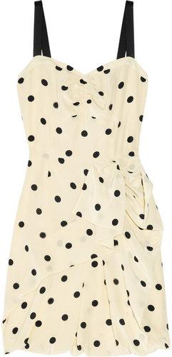 Marc by Marc Jacobs Hot Dot ruffled silk dress