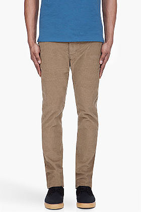 PAUL SMITH JEANS Light Beige Skinny Cords