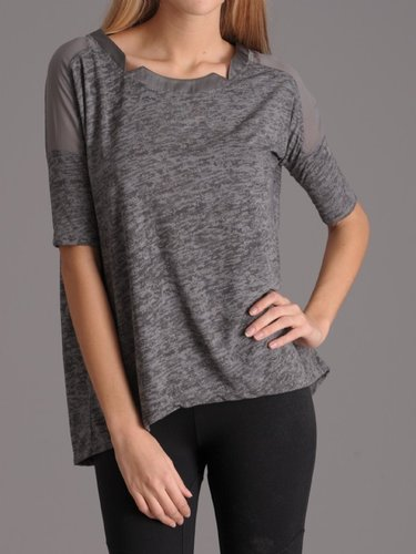 David Lerner Geometric Neckline Tee