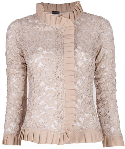 Charlott lace ruffle jacket