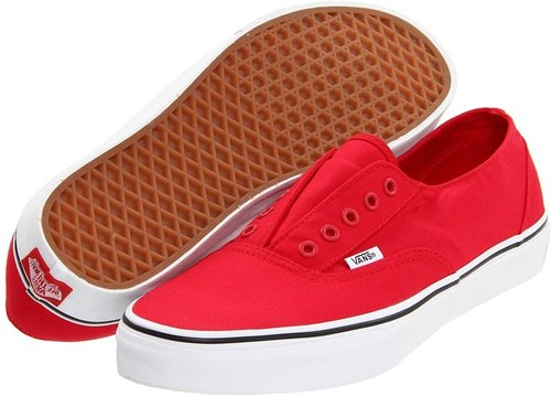 Vans - Era Laceless (Red/True White) - Footwear