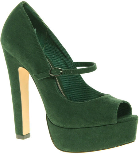ASOS PEPPER Mary Jane Platform Court Shoe With Peep Toe
