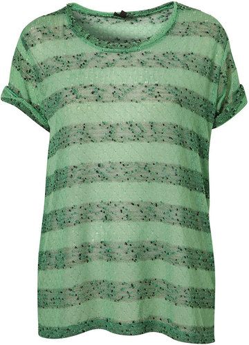Knitted Nep Stripe Tee