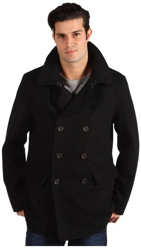 Ben Sherman - Double Breasted Wool Peacoat (Black) - Apparel