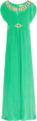 ALICE by Temperley Long Alma embellished silk dress