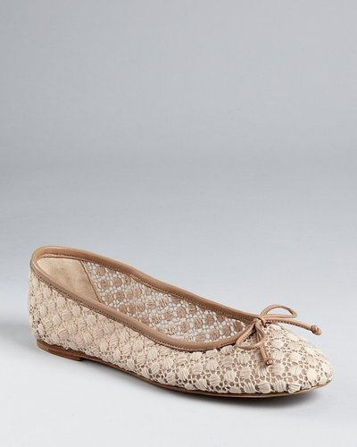 Delman Flats - Flora Ballet with Embroidered Dots