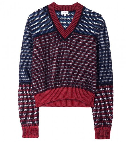 Kenzo CONTRAST METALLIC KNIT PULLOVER