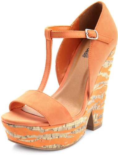 Cute Printed Spring Shoes - Summer Wedge Sandals