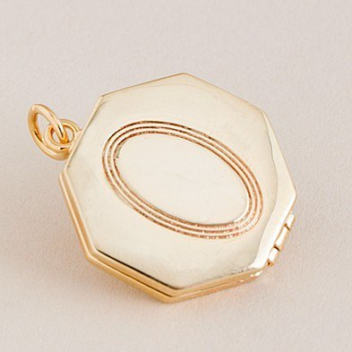 Heirloom octagonal locket