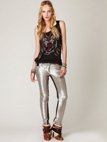IRO Distressed Sequin Pants