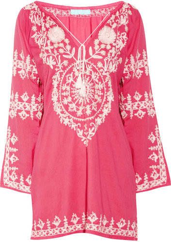 Melissa Odabash Laura embroidered cotton kaftan