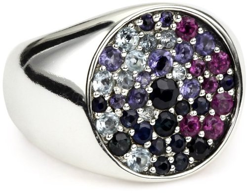 "Elizabeth and James ""Eclipse"" Multi-stone Blue Gemstone Ring"