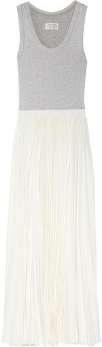Maison Martin Margiela Stretch-cotton and crepe maxi dress