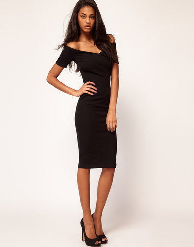 ASOS Body-Conscious Dress With Off Shoulder Detail