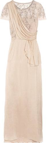 Temperley London Fern silk-chiffon and embellished tulle gown