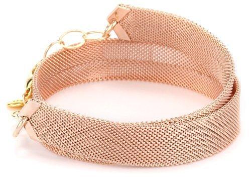"""gorjana """"Kate"""" Rose Gold-Plated Mesh Bracelet"""