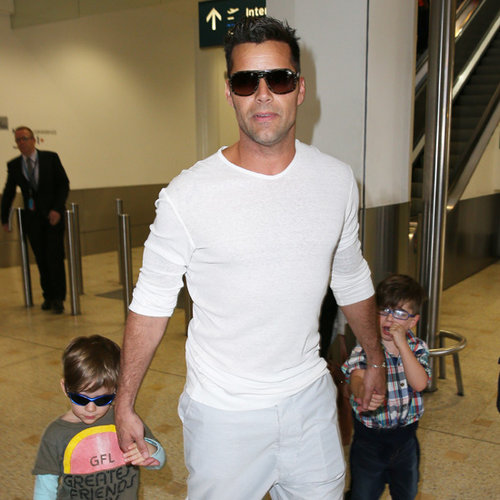 Ricky Martin and Seal Arrive in Sydney For The Voice Battle