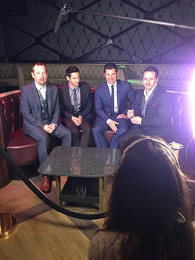 The guys of 98 Degrees made the interview rounds as they prep for their Summer tour. Source: Twitter user 98official