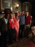 The Suburgatory cast snapped a photo on their last day of filming for season two. Source: Twitter user AnaGasteyer