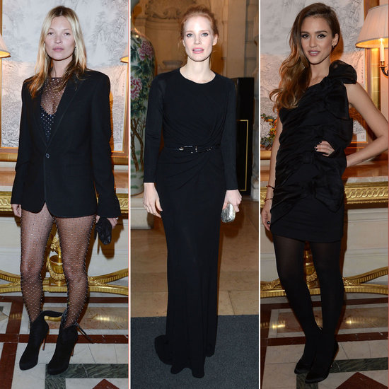 Kate Moss Rocks a Sheer Bodysuit to Party With Alba and Chastain