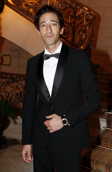 Adrien Brody suited up for the CR Fashion Book cocktail party in Paris on Tuesday.
