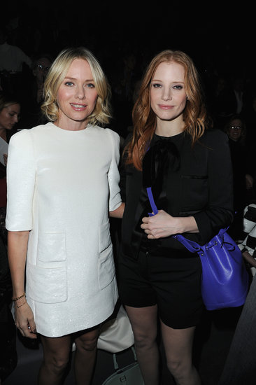Naomi Watts and Jessica Chastain posed for photos together.