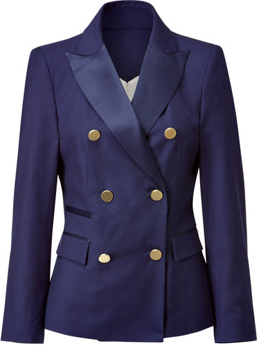 By Malene Birger Navy Blazer with Gold Buttons