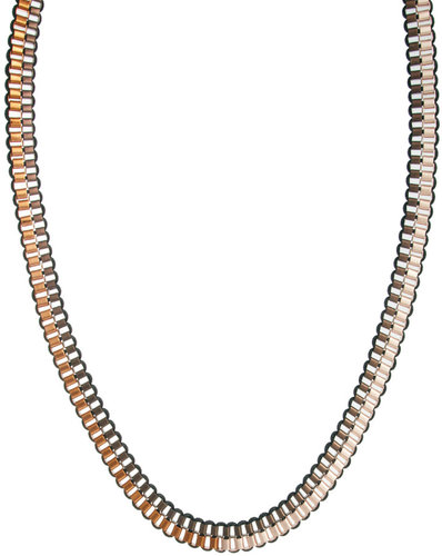 French Connection Box Chain And Wrap Necklace