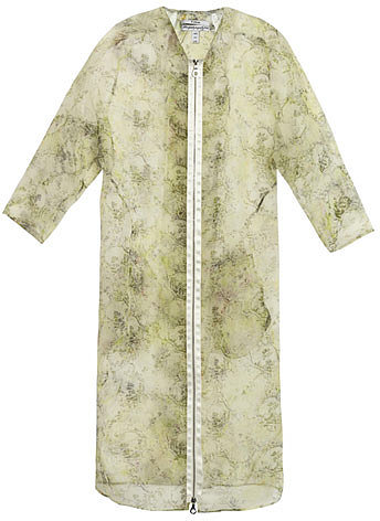 Erdem Mae Chinon-print organza coat