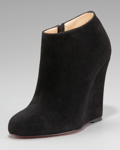 Christian Louboutin Belle Zeppa Suede Wedge Bootie