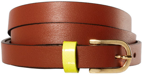 Maison Boinet Skinny Leather Neon Loop Belt