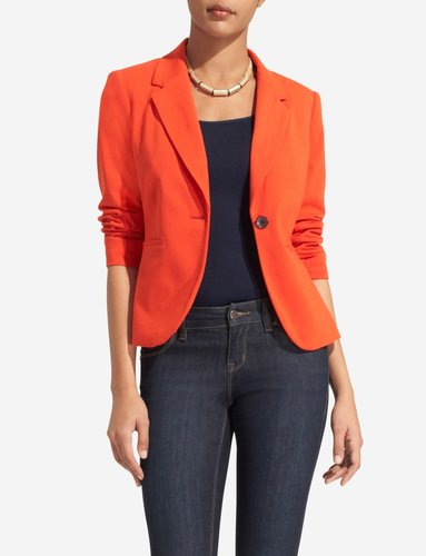Ponte Knit One-Button Blazer