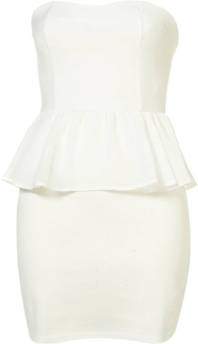 Bandeau Chiffon Peplum Dress by Oh My Love**